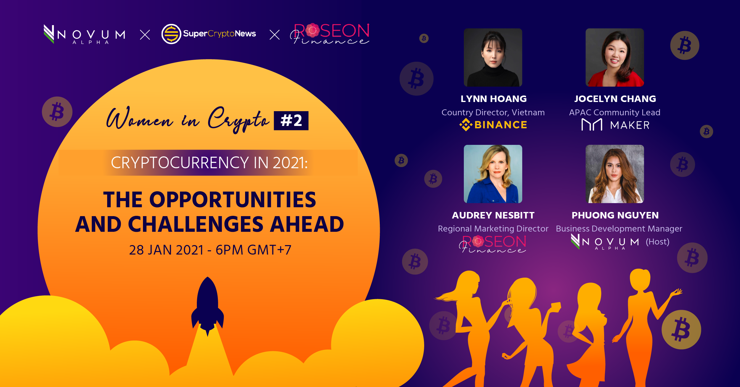 [Talk Series] Woman in Crypto #2: Cryptocurrency in 2021 – Opportunities and Challenges