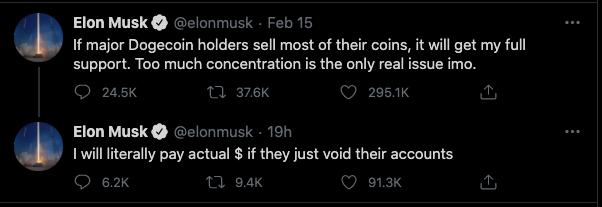 Elon Musk tweet doge