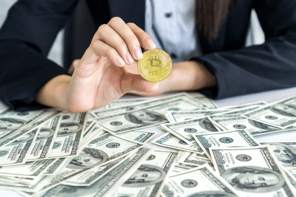 cash and cryptocurrency