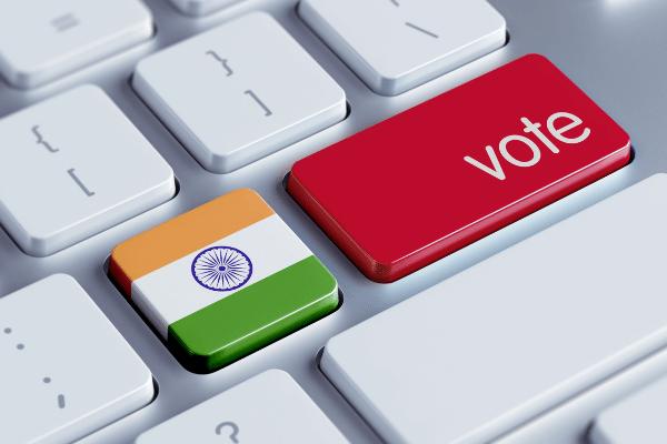 India blockchain election