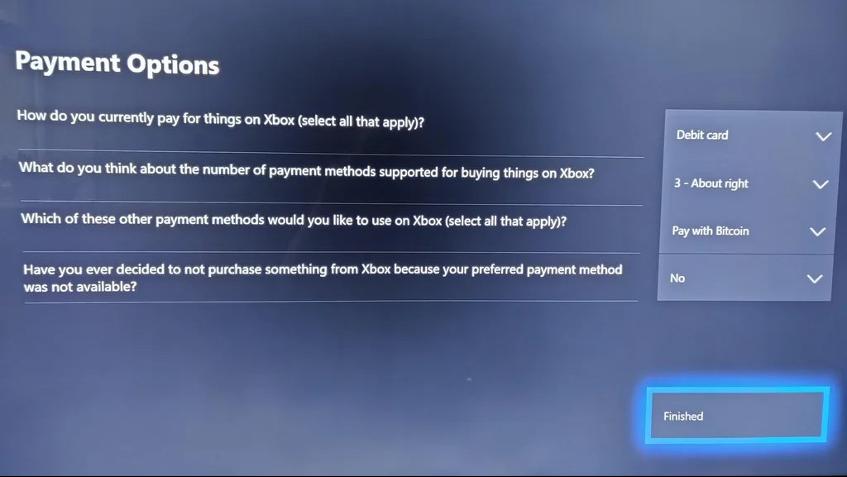xbox bitcoin survey