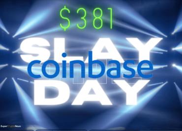 coinbase listing price 381 NASDAQ