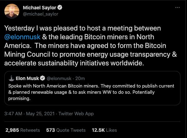 Michael Saylor tweet